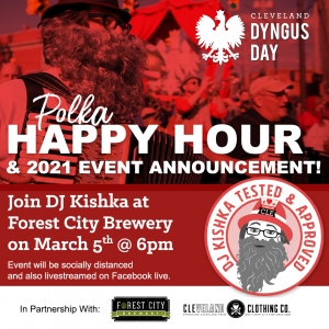 Dyngus Day Cleveland Polka Happy Hour flyer